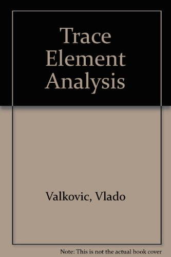 9780850660838: Trace Element Analysis