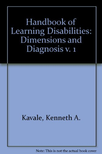 Handbook of Learning Disabilities: Kavale, Kenneth A.;