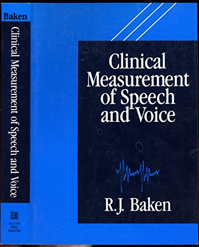 9780850666519: Clinical Measurement of Speech and Voice