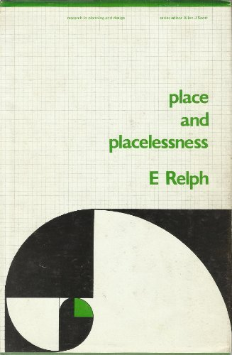 9780850860559: Place and Placelessness (Research in Planning and Design)