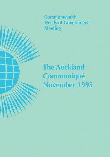 9780850924572: The Auckland Communique, November 1995: Commonwealth Heads of Government Meeting