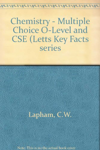 9780850975673: Chemistry - Multiple Choice O-Level and CSE (Letts Key Facts series