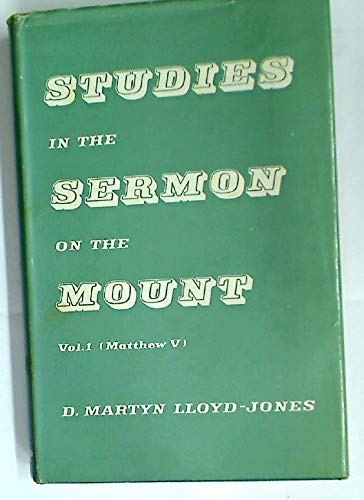 9780851106052: Studies In The Sermon On The Mount