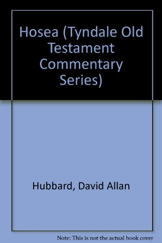 9780851116419: Hosea: An Introduction & Commentary (Tyndale Old Testament Commentaries, Vol. 22, No. 1)