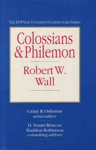 9780851116747: COLOSSIANS AND PHILEMON: The IVP New Testament Commentary series