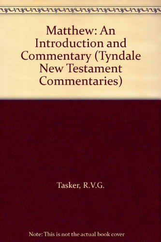 9780851118123: Matthew: An Introduction and Commentary (Tyndale New Testament Commentaries)