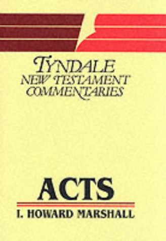 9780851118741: Acts of the Apostles an Introduction and Commenta (Tyndale New Testament Commentaries)