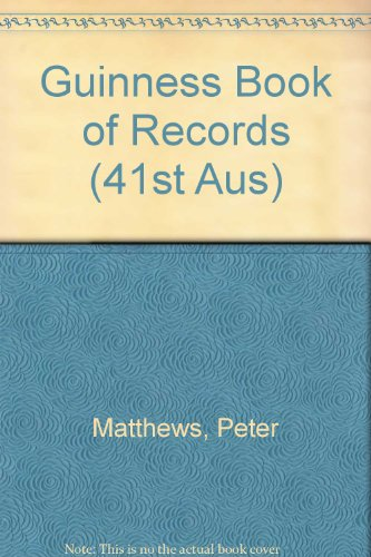 9780851127378: Guinness Book of Records (41st Aus)