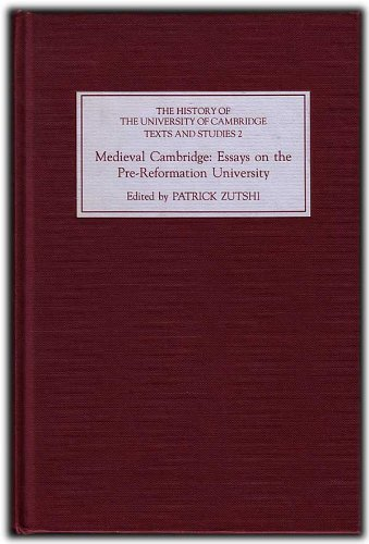 9780851153445: Medieval Cambridge: Essays on the Pre-Reformation University (History of the University of Cambridge)