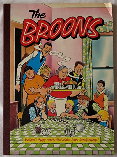 The Broons : Cover Picture Family Dinner Chequers on the Tablecloth