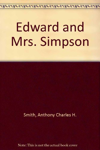 9780851190501: Edward and Mrs. Simpson