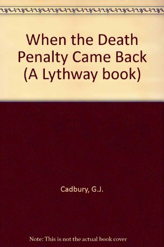 9780851190679: When the Death Penalty Came Back