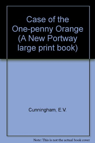 9780851191409: Case of the One-penny Orange (A New Portway large print book)
