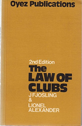 9780851200118: Law of Clubs
