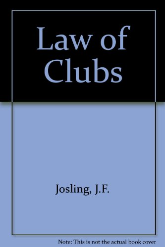 9780851202297: Law of Clubs