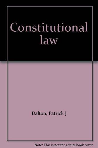 9780851202747: Constitutional Law