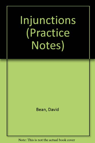 9780851204246: Injunctions (Practice Notes)