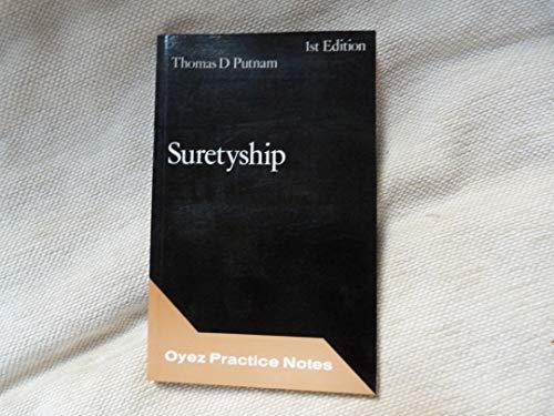 9780851206127: Suretyship