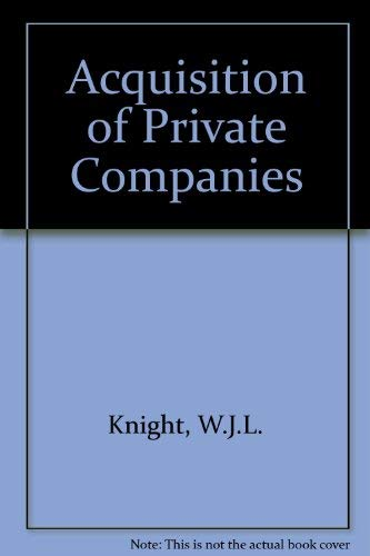 9780851206219: Acquisition of Private Companies