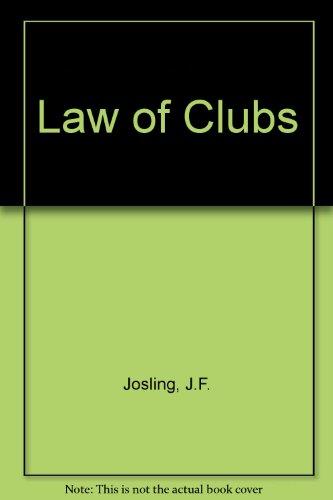 9780851208459: Law of Clubs (Oyez Longman practitioner series)