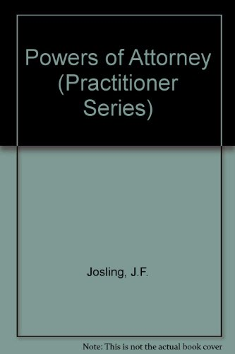 9780851210452: Powers of Attorney (Practitioner Series)