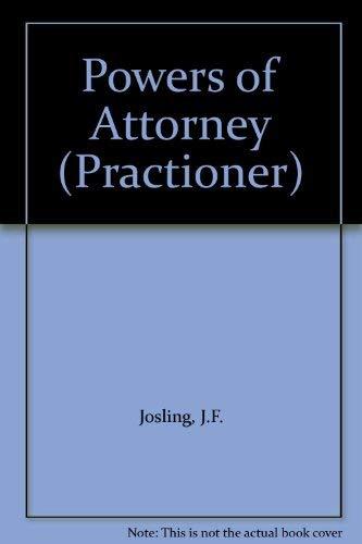 9780851213903: Powers of Attorney (Practioner S.)