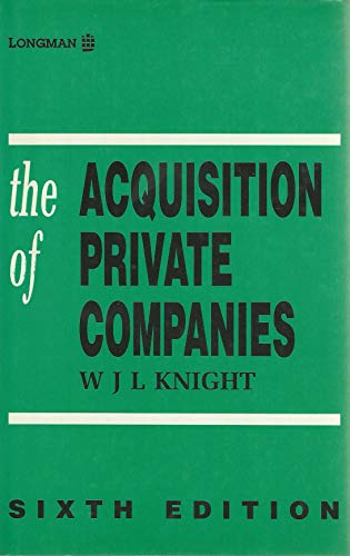 9780851218670: The Acquisition of Private Companies
