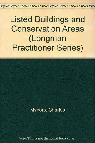 9780851219028: Listed Buildings and Conservation Areas (Longman Practitioner Series)