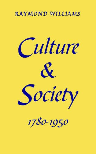 9780851248189: Culture and Society: 1780-1950