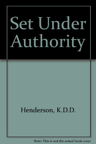 9780851262000: Set Under Authority