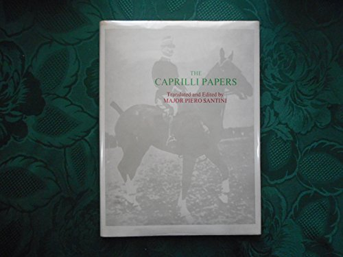9780851310701: The Caprilli Papers: Principles of Outdoor Equitation