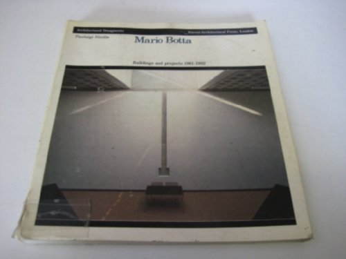 Mario Botta: Buildings and Projects, 1961-82 (9780851390918) by Pierluigi Nicolin