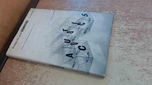 Design For Good Acoustics: Moore. J. E.