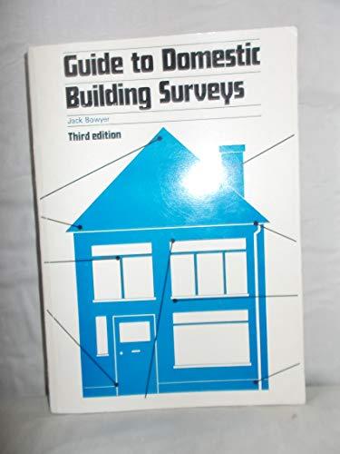 9780851392448: Guide to Domestic Building Surveys