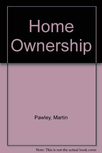 9780851393032: Home Ownership