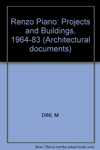 9780851399553: Renzo Piano: Projects and Buildings, 1964-83 (Architectural documents)