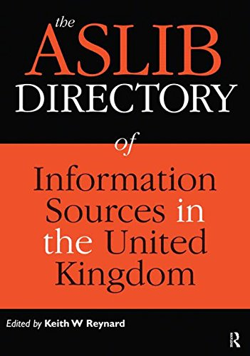 Aslib Directory Of Information Sources In The United Kingdom Eleventh Edition (Hb)