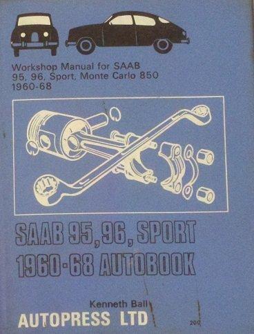 9780851472003: Saab 95, 96 Sport 1960-68 Autobook