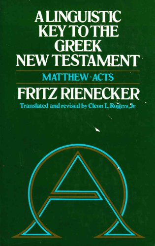 9780851501178: Linguistic Key to the Greek New Testament