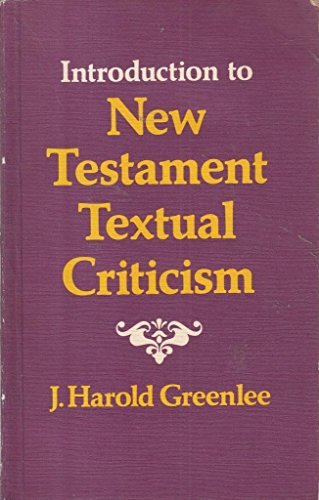 9780851501758: AN INTRODUCTION TO NEW TESTAMENT TEXTUAL CRITICISM