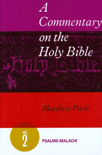 9780851511344: 2: A Commentary on the Holy Bible, Volume: Psalms-Malachi