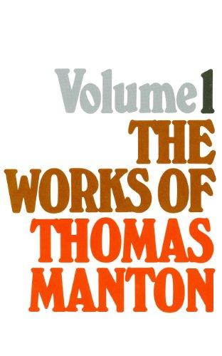 9780851516486: Works of Thomas Manton: Volume 1