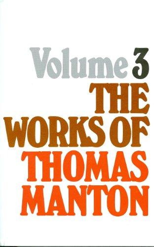 9780851516509: Works of Thomas Manton: 3