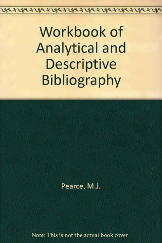 9780851570969: Workbook of Analytical and Descriptive Bibliography