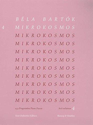 Mikrokosmos Volume 4 (Pink) (Mikrokosmos (Boosey & Hawkes)) - Composer-Bela Bartok