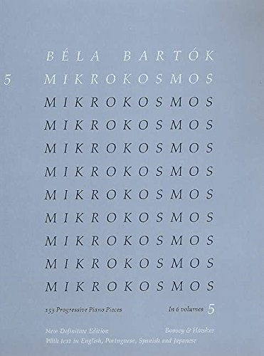9780851626352: Mikrokosmos Piano Volume 5 Blue (English, Portugese, Spanish and Japanese Edition) (English, Spanish and Japanese Edition)