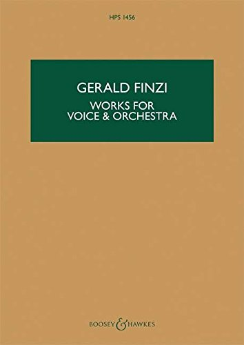 9780851627885: WORKS FOR VOICE AND ORCHESTRA STUDY SCORE ENGLISH (HPS 1456)