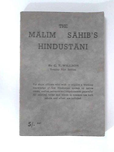 9780851741871: The Malim Sahib's Hindustani