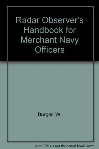 9780851744438: Radar Observer's Handbook for Merchant Navy Officers