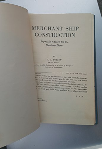 9780851744544: Merchant Ship Construction